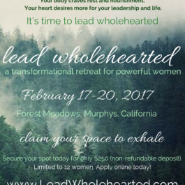 Lead Wholehearted