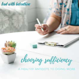 Choosing Sufficiency
