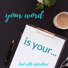 Your Word is Your…