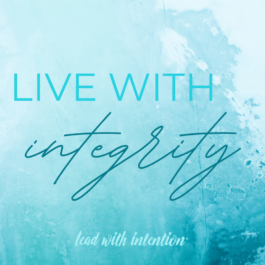 Live With Integrity